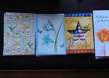Lot Of 4 Birthday, Sympathy, Thank You Cards Unused