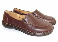 BORN 7.5 B BROWN LEATHER LOAFERS $90