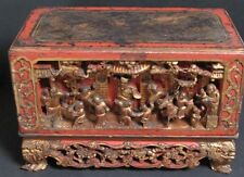 Antique Autel Coffre en Bois sculpté de CHINE