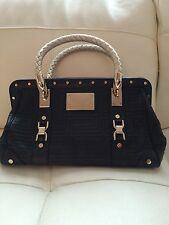Gianni Versace Couture Collection Leather Satchel Handbag