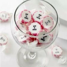 PACK OF 50  MR AND MRS PINK  ROCK  WEDDING  FAVOUR  SWEET TABLE DECORATION -gift