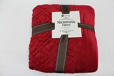 NWT In Living Micro-Mink Throw Blanket Red 50x60