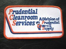 PRUDENTIAL~ CLEAN ROOM SERVICES EMBROIDERED SEW ON PATCH UNIFORM RENTAL LAUNDRY
