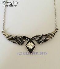 MORTAL INSTRUMENTS ANGEL WING RUNE NECKLACE SHADOWHUNTER JOCELYN CLARY JACE ALEC