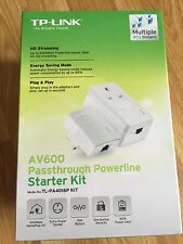 TP-LINK AV600 PASSTHROUGH POWERLINE 600Mbps STARTER KIT TL-PA4016P
