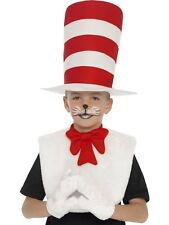 Childrens Licensed Cat in the Hat Fancy Dress Hat Set Book Day Kit by Smiffys