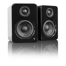 Kanto YU2 Powered Computer Laptop Desktop Speakers High Gloss Black Pair YU2GB