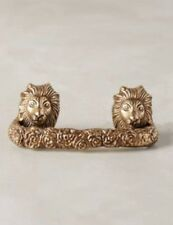 NIB Anthropologie FABLED FAUNA Lion Handle Pull Nature Metal
