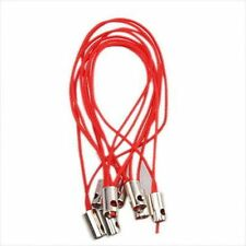 500pcs Hot Selling Charms Red Strap Moblie Phone Lariat Lanyard Findings 5cm LC