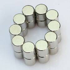 Set Of 5 Pieces of 5mm x 5mm Cylinder Strong Rare Earth Neodymium Magnets N52