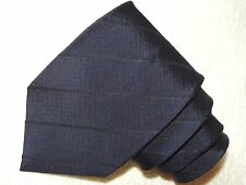 ARMANI COLLEZIONI NECK TIE STRIPED ON NAVY BLUE RAYON & SILK MEN'S TIE
