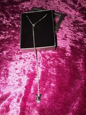 GENUINE PLAYBOY DIAMOTE LARIOT STYLE LONG DROP SHORT NECKLACE Never Worn IN BOX
