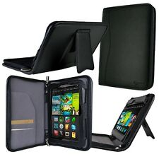 "rooCASE for Amazon Kindle Fire HD 7"" (2012) Executive Leather Case Black Lot C5"