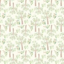 Fabric Baby Bedtime Trees & Grass on Cream Flannel by the 1/4 yard BIN