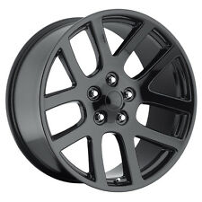 "(4) 24"" 24x10 SRT10 Style Fits 2002 - Up Dodge Ram 1500 Wheels Rims Gloss Black"