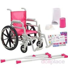 Wheelchair Set Crutches Casts fits 18 inch American Girl Doll Doctor Accessories