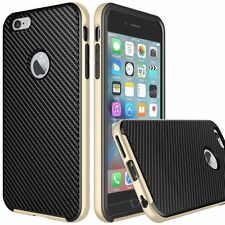iVAPO iPhone 6s Plus Premium PU Leather Cell Phone Case, Carbon Fiber Black   lh