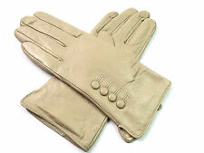 Ladies Womens Premium Quality Genuine Soft Leather Gloves Fur Lined Driving Warm