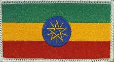 ETHIOPIA Flag Patch With VELCRO® Brand Fastener WHITE BORDER #7