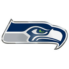 Seattle SEAHAWKS Car Auto Aluminum Metal Color emblem NIP