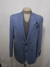 Mens 44R 44 Polo Ralph Lauren Wool Silk Linen Blazer Coat Suit Blue Jacket 2BTN