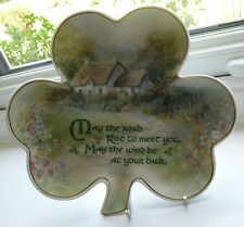 FRANKLIN MINT SHAMROCK PLATE AN IRISH BLESSING LIMITED EDITION NEW