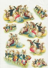 Rice Paper for Decoupage Decopatch Scrapbook Craft Vintage Easter Orchestra