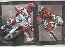 MOTORCYCLE DIRTBIKE MOTORCROSS RACING Wallpaper Border 10 1/4