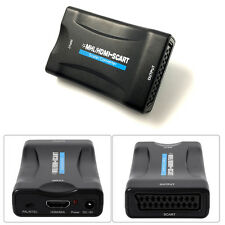 1080p MHL HDMI To SCART Adapter Video Audio Converter Scaler Smartphone STB DVD