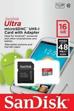 16GB SanDisk Ultra Micro SD SDHC Memory Card UHS-1 CLASS 10 16GB WITH ADAPTER