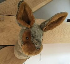 Fluffy Rabbit Head Wall Sculpture Head Bust Children's Room Bunny Gift Christmas