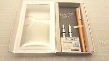 Judd's NEW Online Germany AL2 Calligraphy Sweet Orange Fountain Pen w/3 Nibs