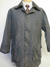 "Barbour Border Waxed jacket - M 40"" Euro 50 or UK 16 in Blue"