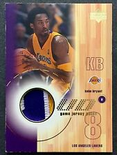 KOBE BRYANT 01-02 Upper Deck UD GAME JERSEY PATCH 3-COLOR LOGO SSP ! VERY RARE !