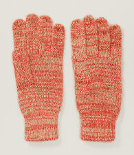 Ann Taylor LOFT - NWT $24 - Coral Orange Variegated Space Dye Marled Knit Gloves