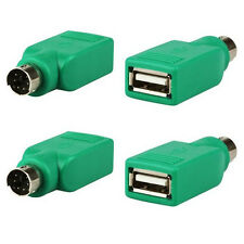 2X USB Female in to PS2 Male Adapter Converter for Computer PC Keyboard Mouse SA