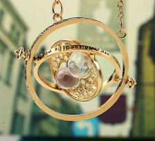 5 Harry Potter Time Turner Hermione Granger Rotating Spins Hourglass Necklace