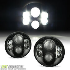 "1997-2017 Jeep Wrangler JK CJ TJ CREE LED DRL Lights Headlights 7"" Inch Round"