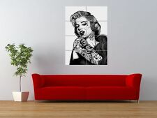 Wm Marilyn Monroe única Tattoo Icon Inked Gigante impresión arte cartel del panel nor0576