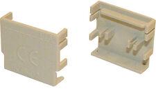 2x Hager KZN024 Endkappe für Phasenschiene 4 polig ( H63689 )