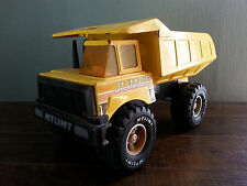 vtg Huge Nylint Pressed Steel Jumbo Garbage Dump Truck Yellow Metal Toy Car Game