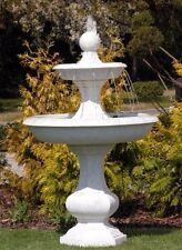 Springbrunnen BARON + Pumpe Wasserspiel Brunnen Steinguss Stein BLACKFORM