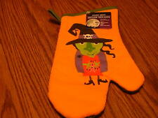 Halloween kitchen Oven Mitt with Witch-NEW