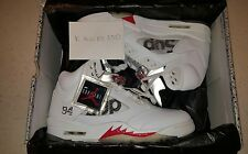 Nike air jordan 5 retro Supreme white. 100% authentic UK 9