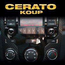 Interior Center Fescia Carbon Decals Sticke For KIA 2010-2013 Forte Cerato Koup