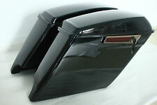 2014 Harley Davidson Extended Stretched Saddle Bags with new latches-gloss black