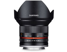 Samyang 12mm F/2.0 NCS CS MF Lens (Black)  For MFT (New Product)
