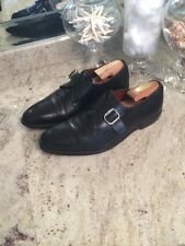 Allen Edmonds Mens Boston Black Dress Shoe Monk Strap Size 10 D