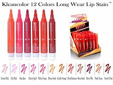 12 PCs Kleancolor Long Lasting Lip Stain - Smudge Free & Kiss Proof`- 12 Colors!
