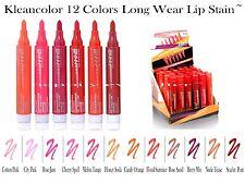 12 PCs Kleancolor Long Lasting Lip Stain - Smudge Free & Kiss Proof`- 12 Colors!